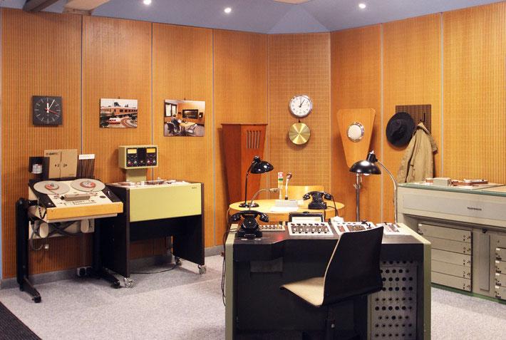 Einmalig: historisches Originalstudio von »Radio Bremen«, Foto © Bremer Rundfunkmuseum
