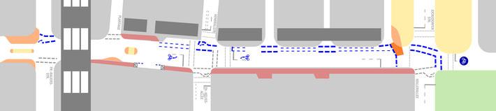 So soll die neue Findorffstraße aussehen - rechts Eickedorfer Straße, links Findorfftunnel-  zum Vergrößern klicken