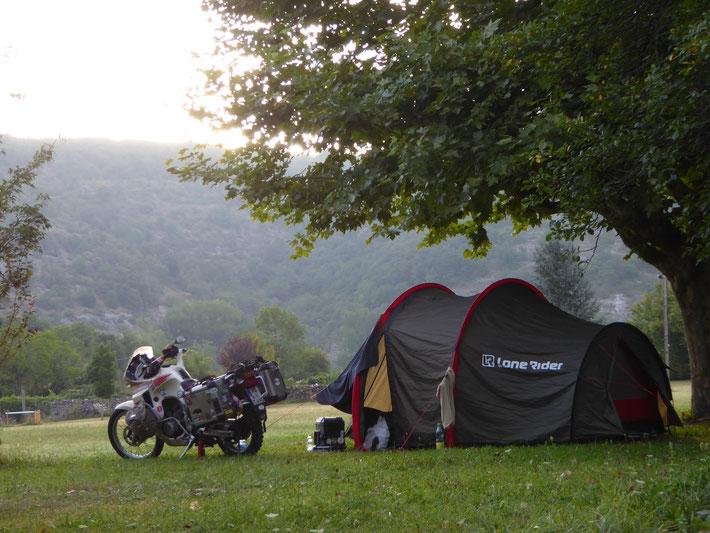 Einer der schönsten Campingplätze der gesamten Reise