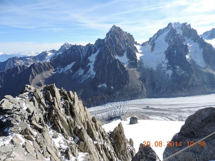 Hier sieht man bereits einen Teil des Gletschers zu dem wir nachher wandern