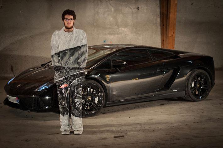 Laurent La Gamba Supercar trompe l'oeil style series