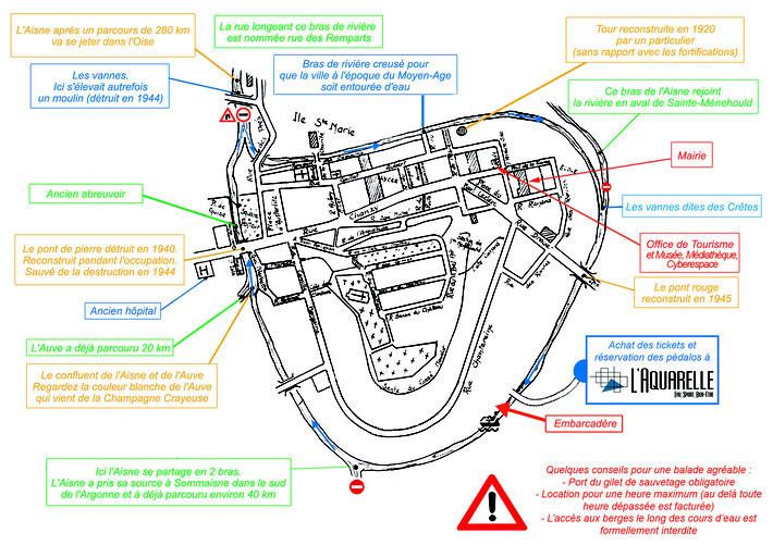 Plan pédalos Sainte-Ménehould
