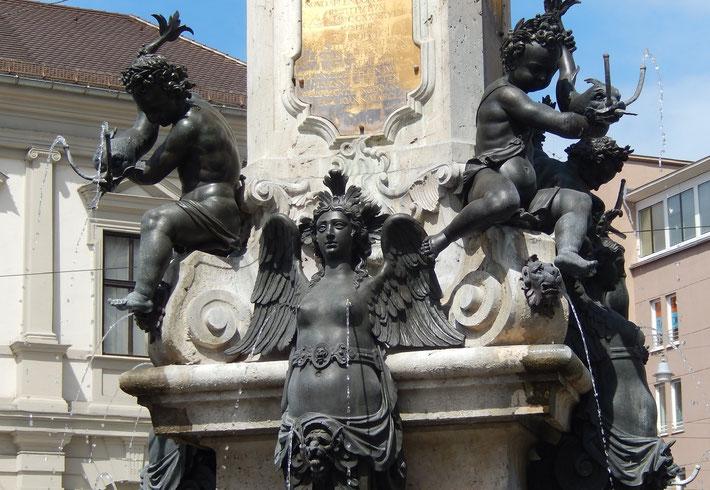ユネスコの世界遺産登録申請中のアウグストその噴水