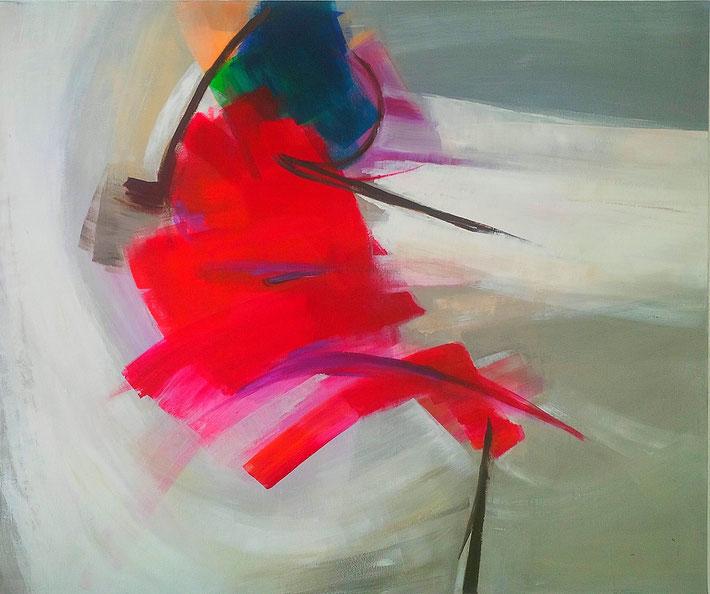 Rouge Froide,  100 x 120 cm, Acryl auf Leinwand