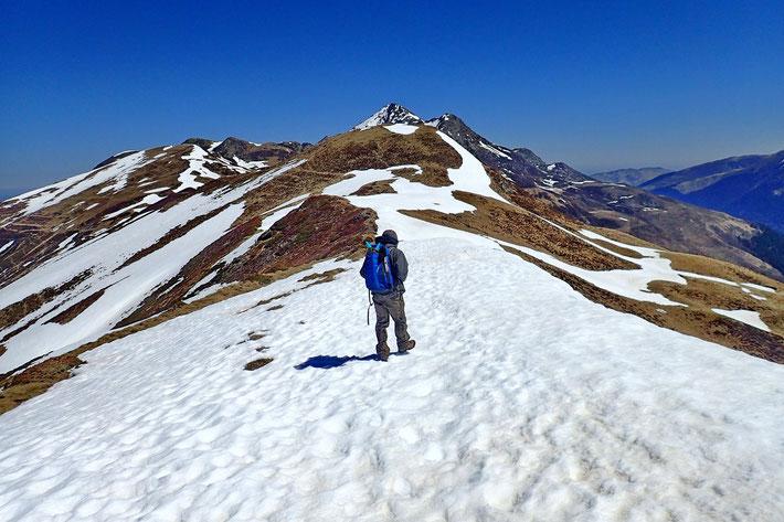 En route vers le Pic du Mont.