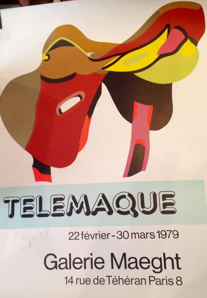 Hervé Télémaque  Affiche lithographie, signée au crayon  Datée 1979 Format 72 x 52 cm, EN STOCK À LA GALERIE AGNES THIEBAULT