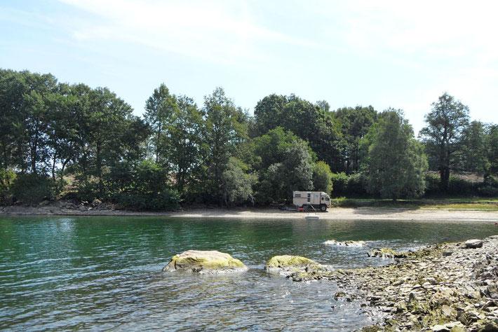 Bucht am Lac de Pareloup
