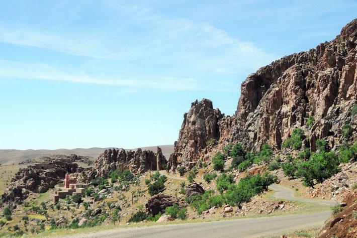 Bizarres Bergmassiv Marokko