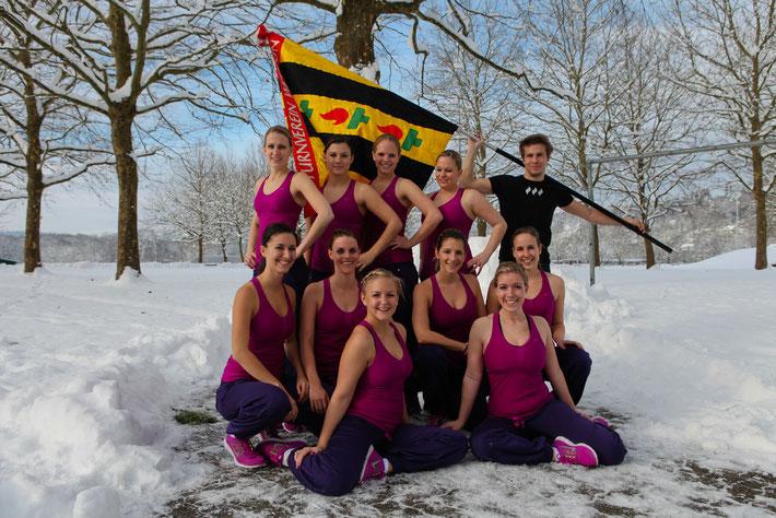 """Foto Hitsch: """"Wetziker Mädels an der SM in Aarau! ( bei mindestens -20°C ;o) )"""" """""""