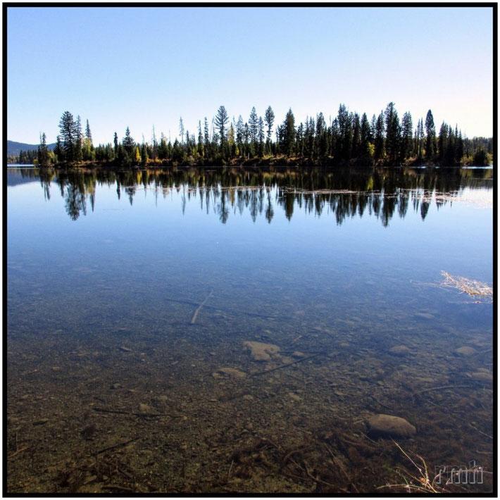 Crystal clear Deka Lake, Cariboo, B.C., Canada