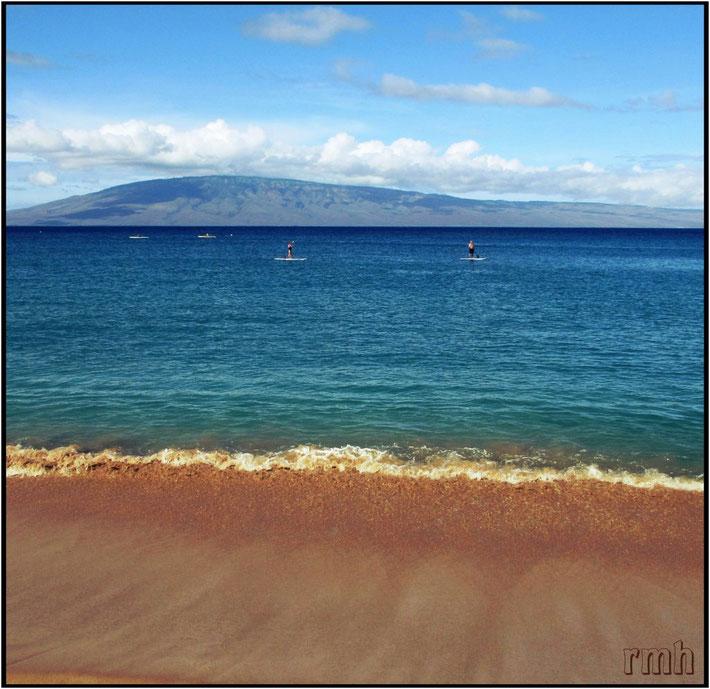 Oneloa Beach, view to Kaho'olawe, HI