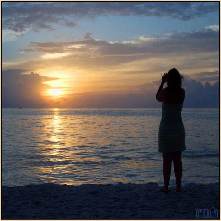 soft sunset on the Maldives