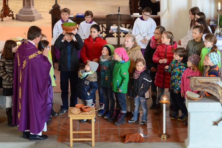 """Die Familienkirche zeigt das Gleichnis vom """"Sämann""""."""