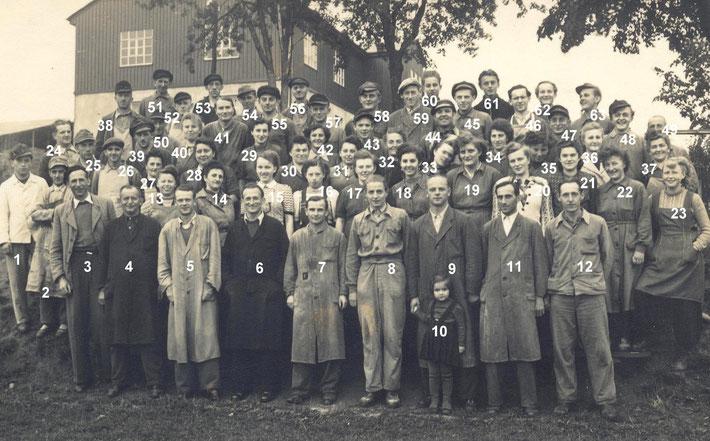 Bild: Wünschendorf Firma Hecker Belegschaft nach 1950