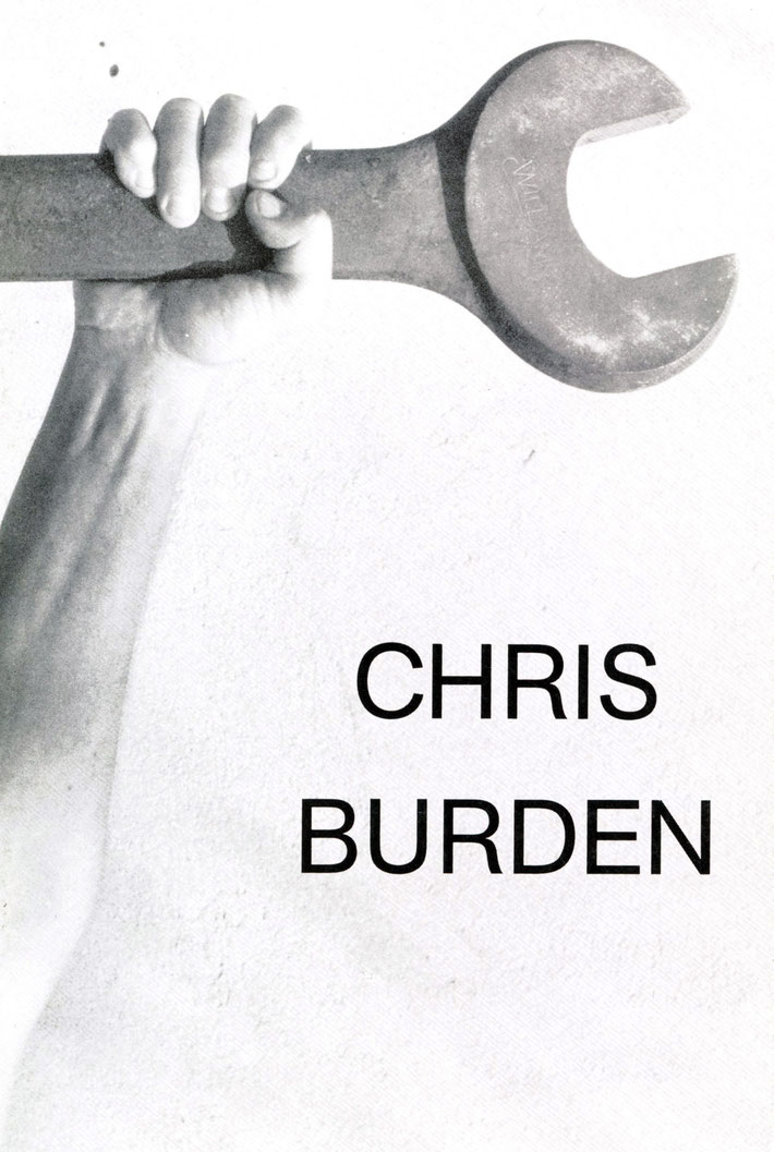CHRIS BURDEN Buch- ORIGINAL EXHIBITION CATALOGUE 1992. GALERIE KRINZINGER 1992.