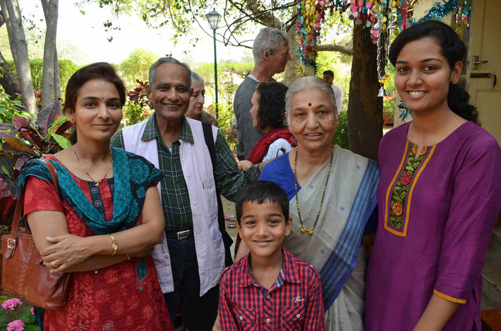 India ; Digambar with members of his family.