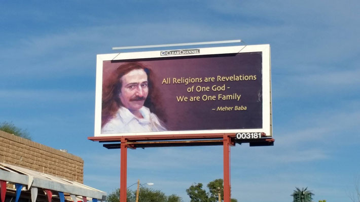 The second Tuscon billboard was installed February 24th 2017. Painting by Charlie Mills
