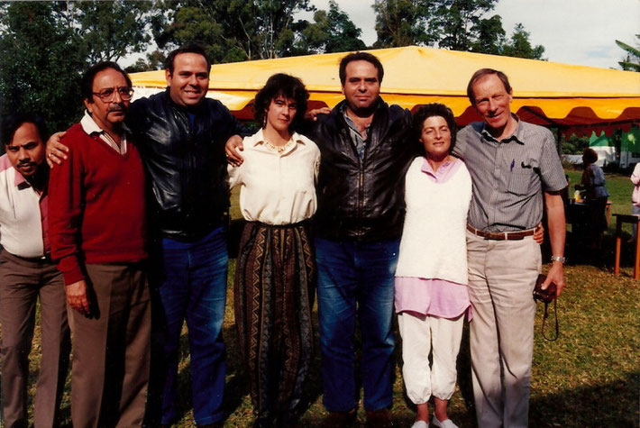 Avatar's Abode Anniversay - 1988, with Sam Kerawalla in the red jumper and Anthony Thorpe on the far right. : photo taken by Anthony Zois