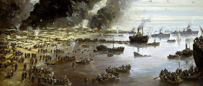 Painting of the Dunkirk evacuation