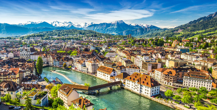 Panorama views of Lucerne, Switzerland