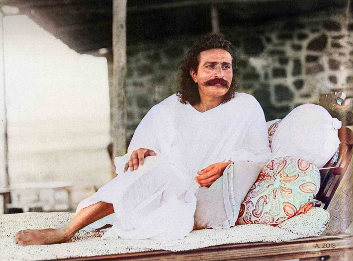 Meher Baba on Meherabad Hill, India in 1927.