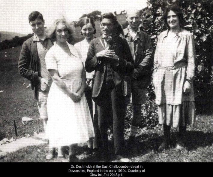 Dr. Deshmukh ( centre ) with Ann Powell ( far right )