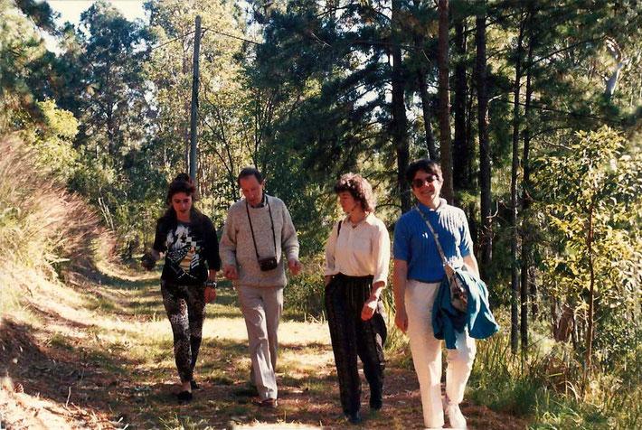 1988 : Avatar's Abode, Queensland - ( L-R ) Josie Tyson, Anthony Thorpe, Alison Sparks & Judi