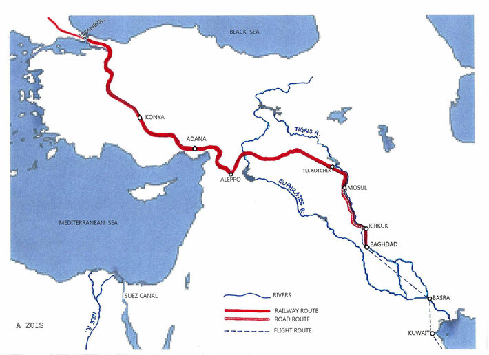 1936 ROUTE THRU IRAQ, SYRIA & TURKEY