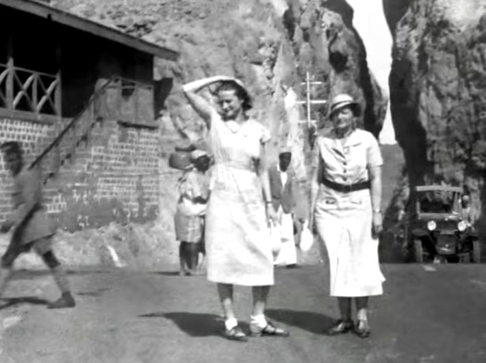 "April 1933 : Vivenne ( left ) is with Elizabeth Patterson at Murree, India ( now Pakistan ). Image is from the video  ""I am the One Reality"" ."