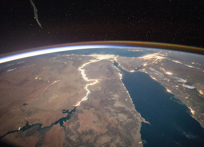 View of Egypt from space