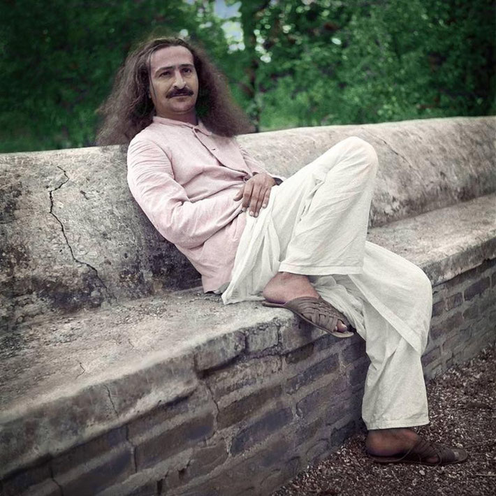 Courtesy of Meher Baba Books (Los Angeles) -  Colourized picture of Meher Baba