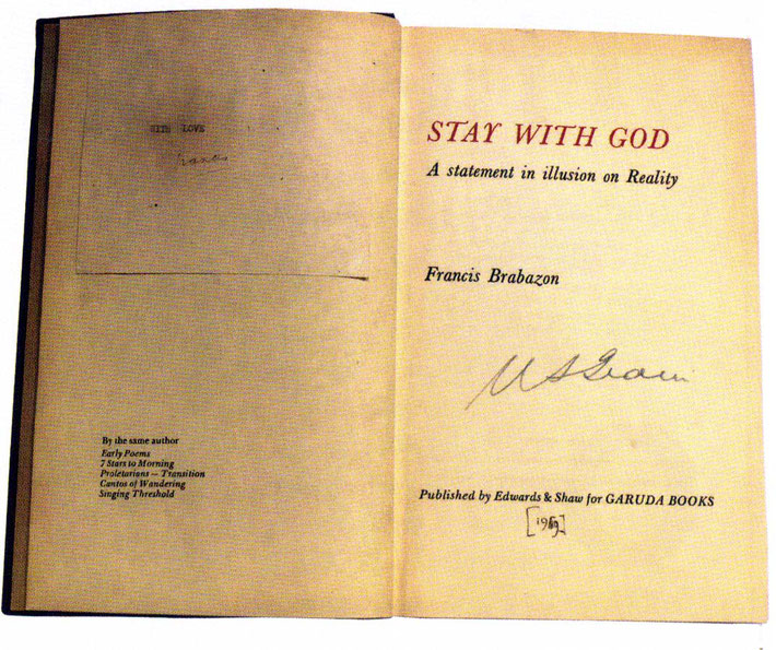 This first edition has both Meher Baba's signature it also has Francis's as well. Courtesy of Glow Int.magazine - Winter 2018