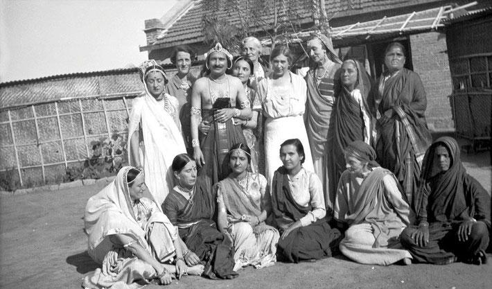 1937 - Meherabad, India. Valu is seated far right.