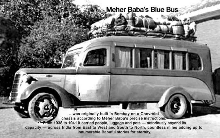 The bus is packed and ready for departure in 1937