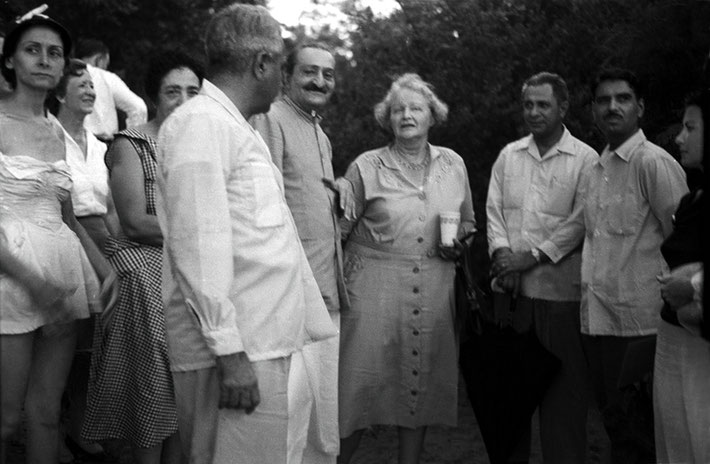 1958 - Billi is on the far right of Meher Baba