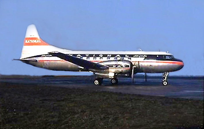 Convair : CV340-47 ; Photo taken at Newark Airport, NY