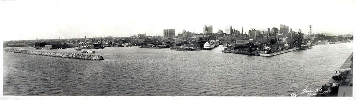 Buffalo wharfs & Erie Canal