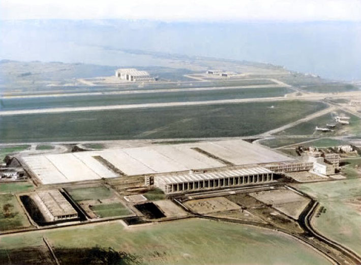 Marseille's Marignane Airport. Image colourized by Anthony Zois.