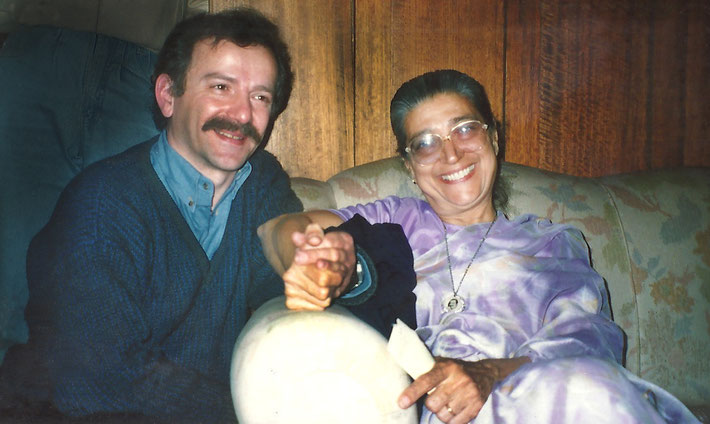 Late 1980s ; Dolly with Anthony Zois in Melbourne