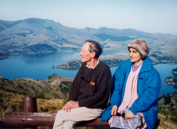 1993 - Meheru and Anthony Thorpe in New Zealand at Littleton Harbour