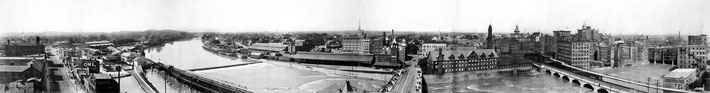 Rochester-Erie canal aqueduct - panorama 1906