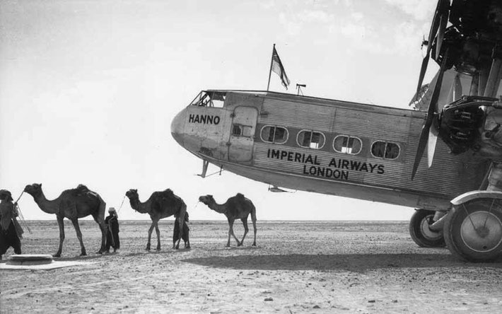 "Gwadar airport 1930s ; ""Hanno"" was the sister plane to the ""Hadrian"" that Meher Baba flew on."