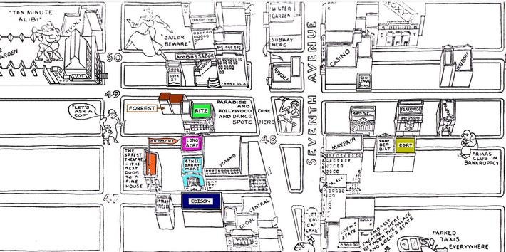 Broadway close-up map