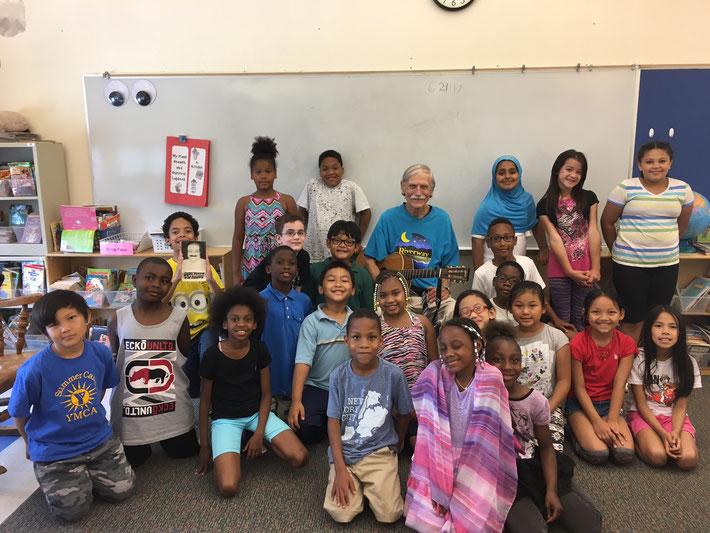 Bill with Ms. Knudsen's 3rd grade class