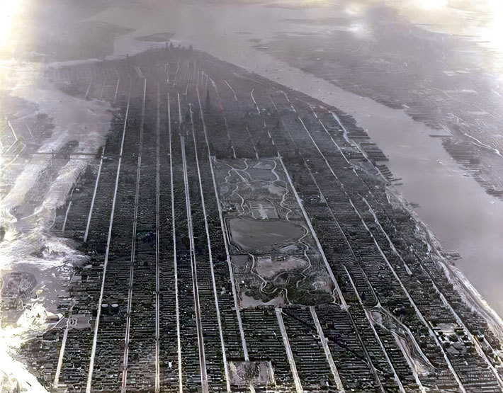 1931 : Aerial view of New York City