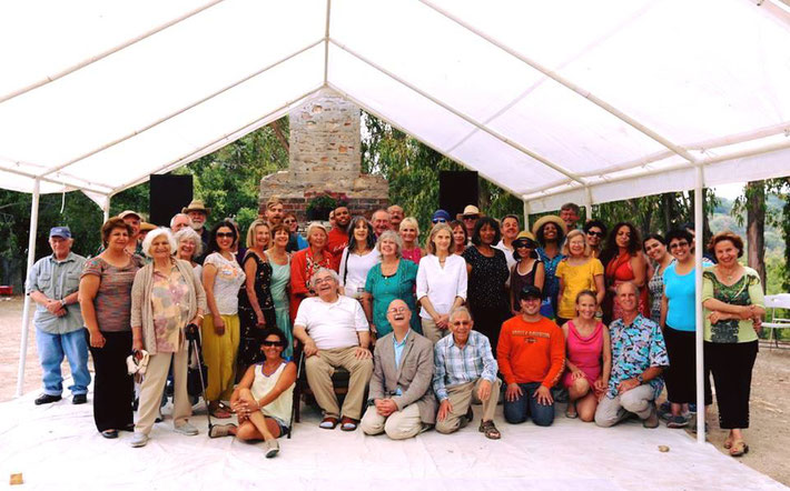 Group photo of the anniversary of Meher Baba's 1956 visit to Meher Mount, August 2014