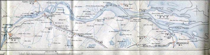 Shanghai to Nanking rail line