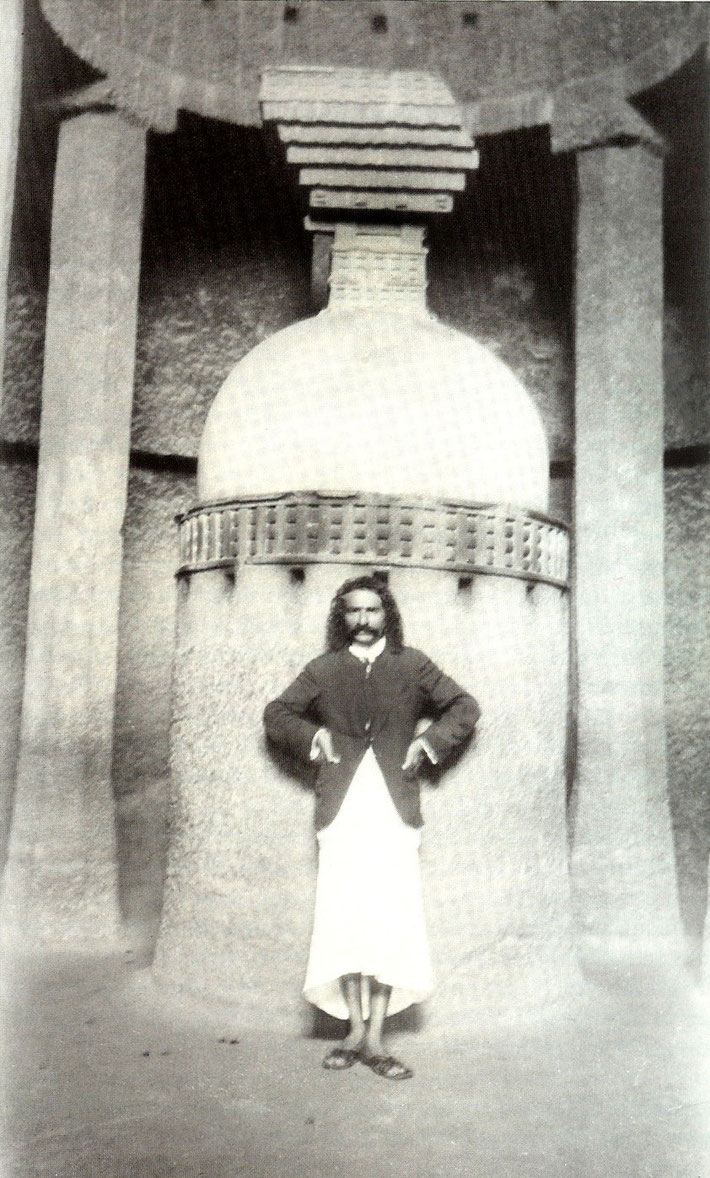 Baba at the Pandu Lena Cave, Nasik ; 1927