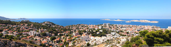 Panorama of Marseilles. France