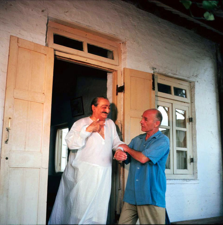 Meher Baba and Francis at Meherazad, India in the 1960s. Courtesy of Meher Nazar images.